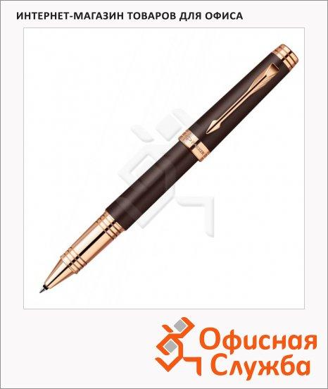 Ручка-роллер Parker Premier Lacque T560, F, коричневый/золотой корпус