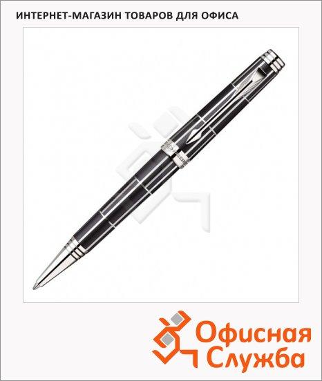 Ручка шариковая подарочная Parker Premier Luxury Brown Premier Luxury K565, М, черная, черный/серебристый корпус