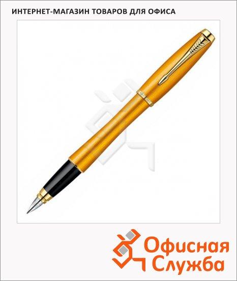 Ручка перьевая Parker Urban Premium Historical colors F205 F, черная, желтый корпус