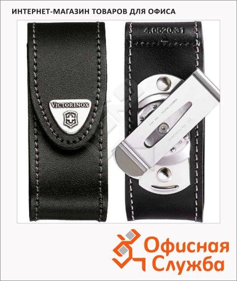 фото: Чехол Victorinox 4.0520.31 для ножа 91мм 2-4 уровней, черный, кожаный