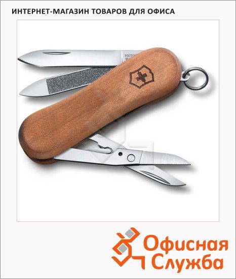 Нож-брелок 65мм Victorinox EvoWood 81 0.6421.63, 5 функций, 1 уровень, коричневый, деревянная рукоять