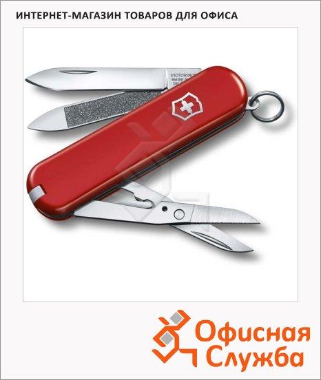 Нож-брелок 65мм Victorinox Executive 81 0.6423, 7 функций, 1 уровень, красный