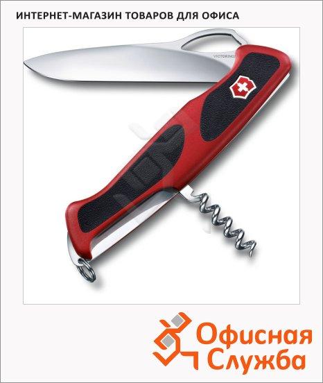 фото: Нож перочинный 130мм Victorinox RangerGrip 63 0.9523.MC 5 функций, 1 уровень, красно-черный