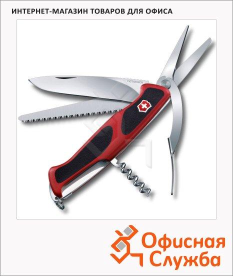 фото: Нож перочинный 130мм Victorinox RangerGrip 71 0.9713.C 7 функций, 3 уровня, красно-черный