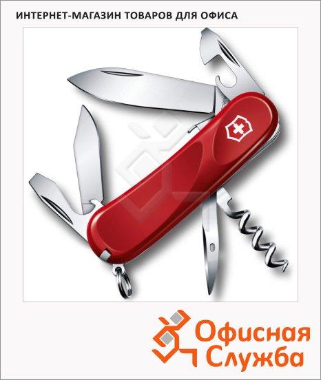 фото: Нож перочинный 85мм Victorinox Evolution S101 2.3603.SE 12 функций, 2 уровня, красный