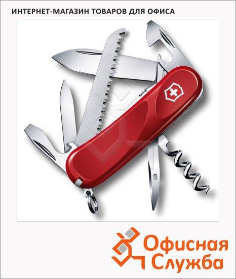 фото: Нож перочинный 85мм Victorinox Evolution S13 2.3813.SE 14 функций, 3 уровня, красный