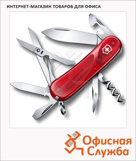 фото: Нож перочинный 85мм Evolution 14.600 2.3903.ET 14 функций, 3 уровня, красный