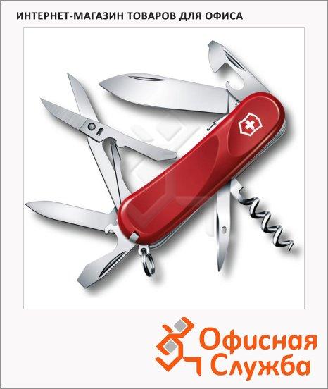 фото: Нож перочинный 85мм Victorinox Evolution S14 2.3903.SE 14 функций, 3 уровня, красный