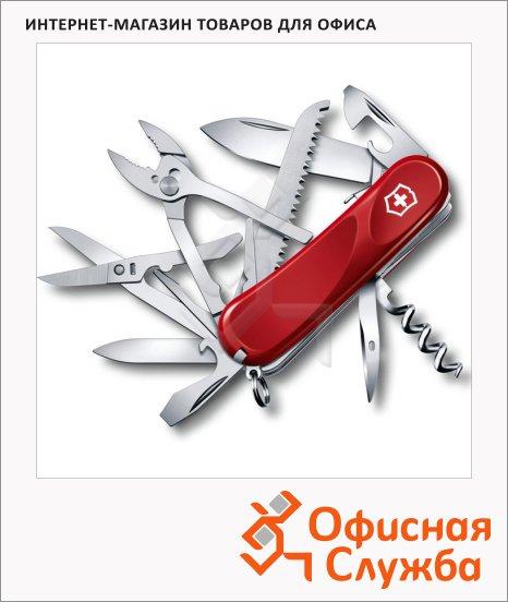 Нож перочинный 85мм Victorinox Evolution S52 2.3953.SE, 20 функций, 5 уровней, красный
