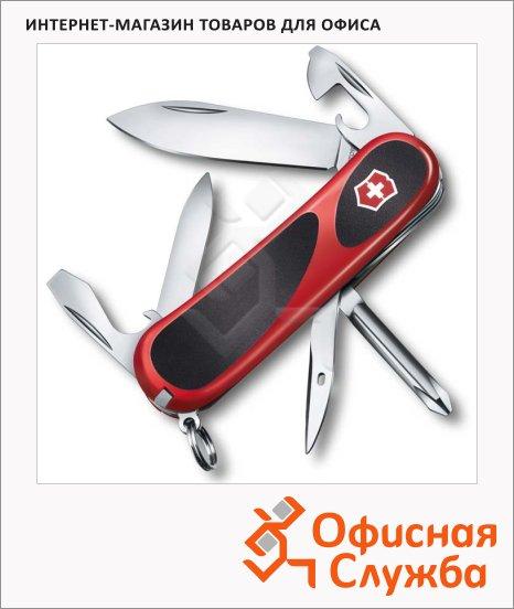 фото: Нож перочинный 85мм EvoGrip 11 2.4803.C 13 функций, 3 уровня, красно-черный