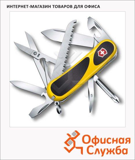 фото: Нож перочинный 85мм Victorinox EvoGrip 18 2.4913.C8 15 функций, 3 уровня, желто-черный