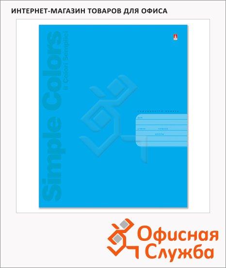 фото: Тетрадь школьная Простые цвета А5, 18 листов, в клетку, на скрепке, мелованный картон