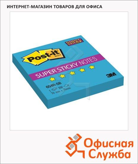 ���� ��� ������� � ������� ����� Post-It Super Sticky �������, 76�76��, 90 ������, ����, 654R-SB
