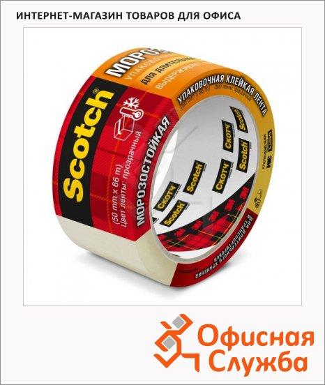 Клейкая лента упаковочная Scotch 50х66м, прозрачная, морозостойкая