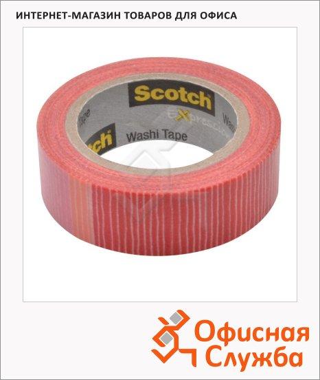 фото: Клейкая лента декоративная Scotch Washi 15мм х10м полоски