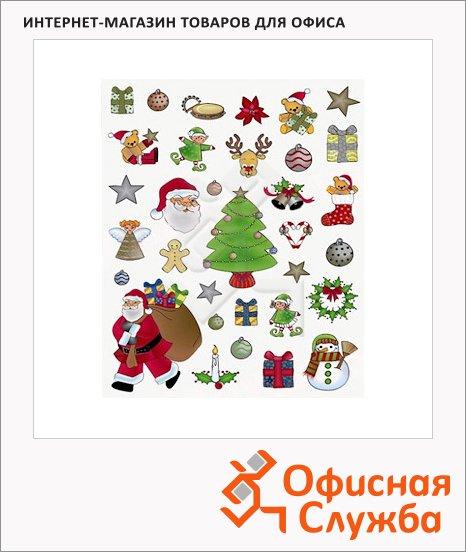 Фигурные этикетки Apli Рождество 11618, серебристые и золотые