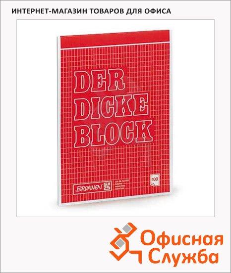 фото: Блокнот Brunnen красный А4, 100 листов, в клетку, на сшивке