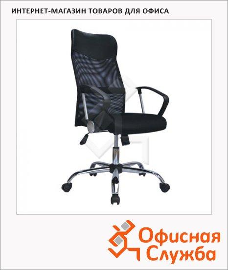 Кресло офисное Brabix Flash MG-302 ткань, черная, крестовина хром