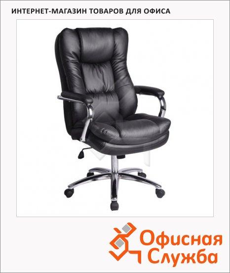 Кресло руководителя Brabix Amadeus EX-507 иск. кожа, черная, крестовина хром