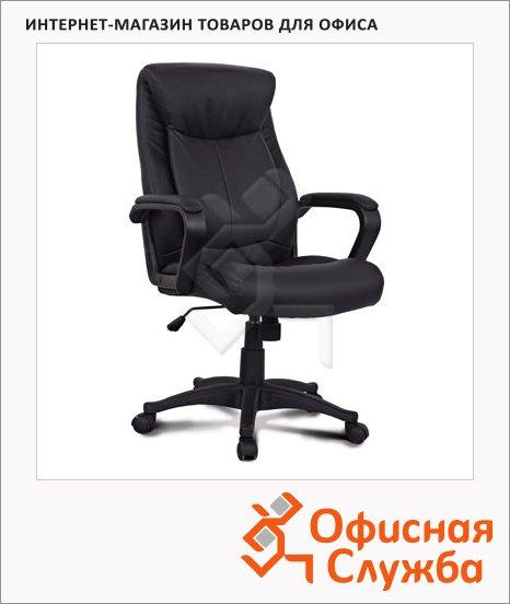 Кресло руководителя Brabix Enter EX-511 иск. кожа, черная, крестовина пластик