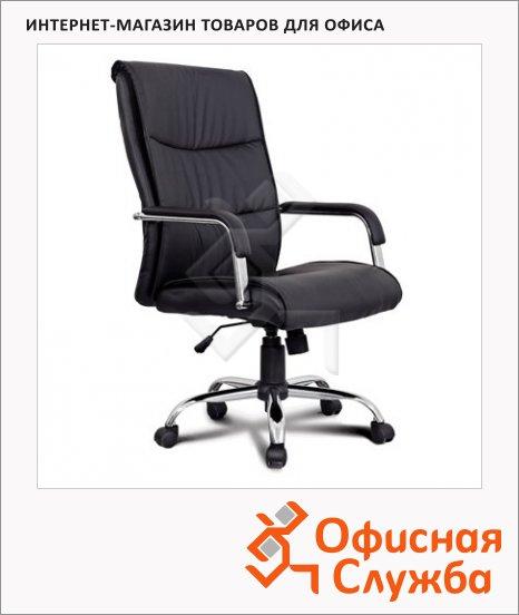 Кресло руководителя Brabix Space EX-508 иск. кожа, черная, крестовина хром