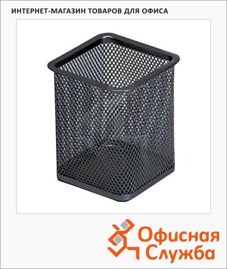 фото: Подставка для ручек Brauberg Germanium 98х80х80мм черная, 2319398
