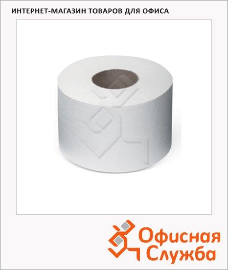 фото: Туалетная бумага Лайма Эконом-Универсал 124546 в рулоне, белая, 200м, 1 слой, 12 рулонов