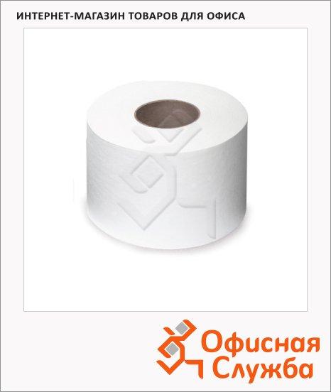 Туалетная бумага Лайма Классик 126093, в рулоне, белая, 200м, 1 слой, 12 рулонов