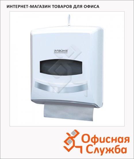 фото: Диспенсер для полотенец листовых Лайма Professional 601426 белый
