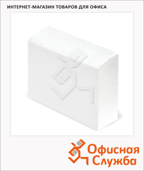 Бумажные полотенца Лайма Люкс 126097, листовые, белые, 200 листов, 2 слоя, 20шт