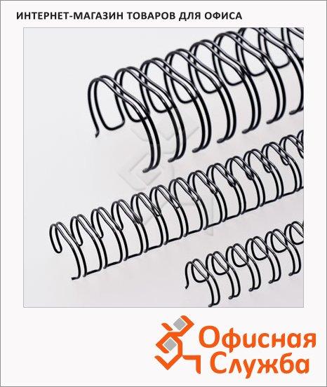 Пружины для переплета металлические Office Kit черные, на 1-30 листов, 6.4мм, 100шт