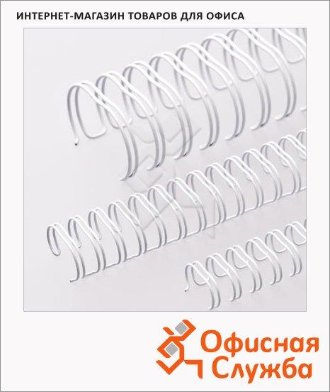 Пружины для переплета металлические Office Kit белые, на 10-60 листов, 9.5мм, 100шт