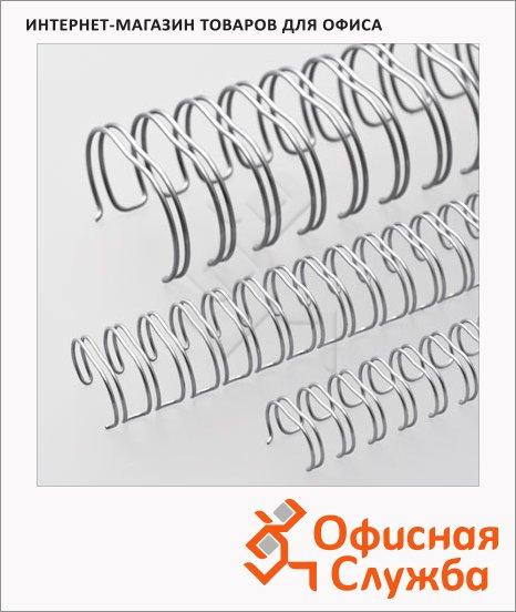 Пружины для переплета металлические Office Kit серебристые, на 10-60 листов, 9.5мм, 100шт