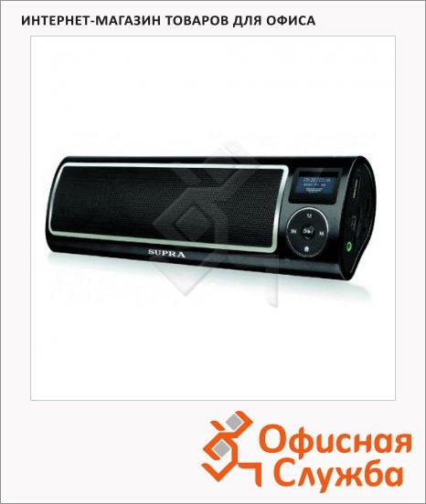 Магнитола Supra PAS-6255 черная, MP3/WMA/WAV