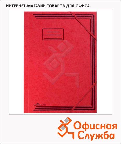 Картонная папка на резинке Durable красная, А4, до 200 листов, 24007-01