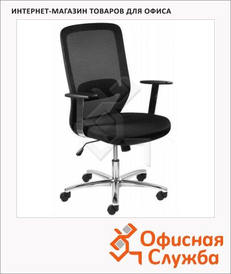 Кресло офисное Бюрократ CH-899SL ткань, черная, TW, крестовина хром