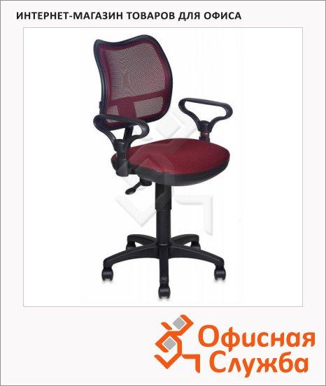 Кресло офисное Бюрократ CH-799BL ткань, бордовая, TW, крестовина пластик