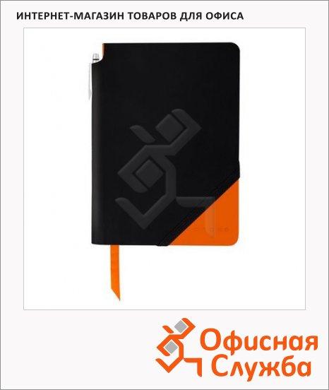 Записная книжка Cross Jot Zone Black & Orange Smal А6, 80л, в линейку, с шариковой ручкой, черно-оранжевая, AC273-1S
