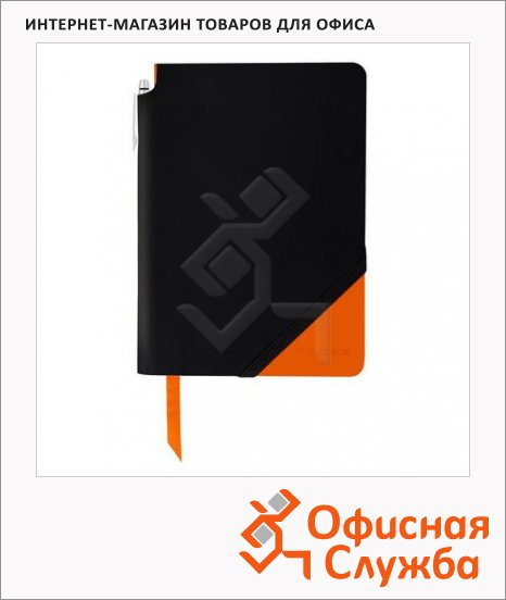 Записная книжка Cross Jot Zone Black & Orange Large А4, 80л, в линейку, с шариковой ручкой, черно-оранжевая, AC273-1L