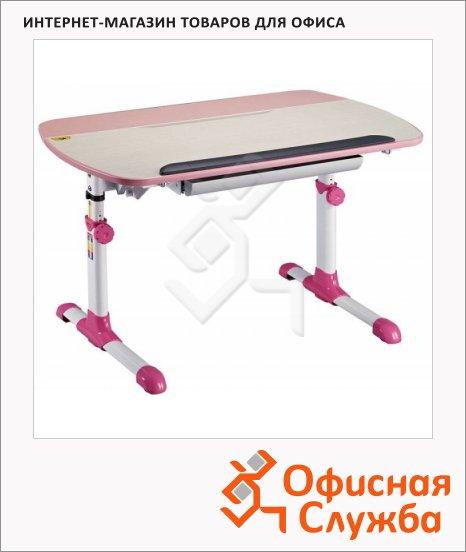 Стол детский Бюрократ Conductor-12 ЛДСП, молочный/розовый, 1050х870х700мм
