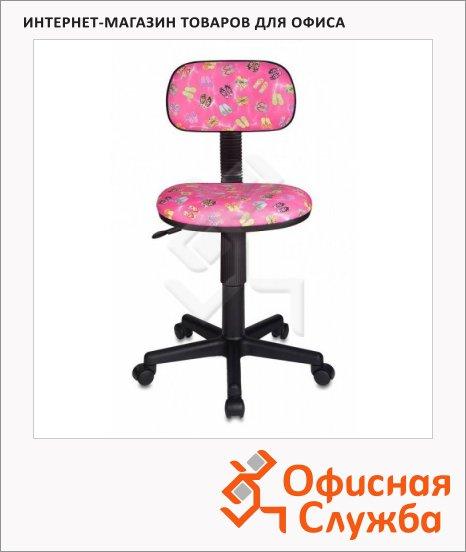 фото: Кресло детское Бюрократ CH-201NX ткань крестовина пластик, розовая, сланцы