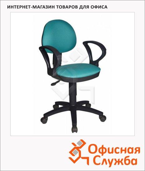 Кресло офисное Бюрократ CH-318AXN ткань, крестовина пластик, бирюзовая, серая