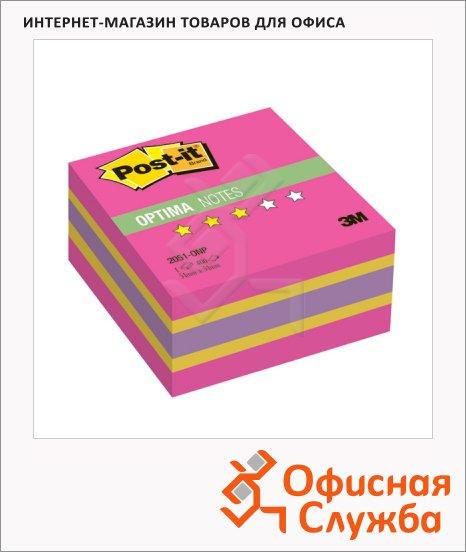фото: Блок для записей с клейким краем Post-It Optima Осень 3 цвета неон, 400 листов, 51x51мм, 2051-ONP