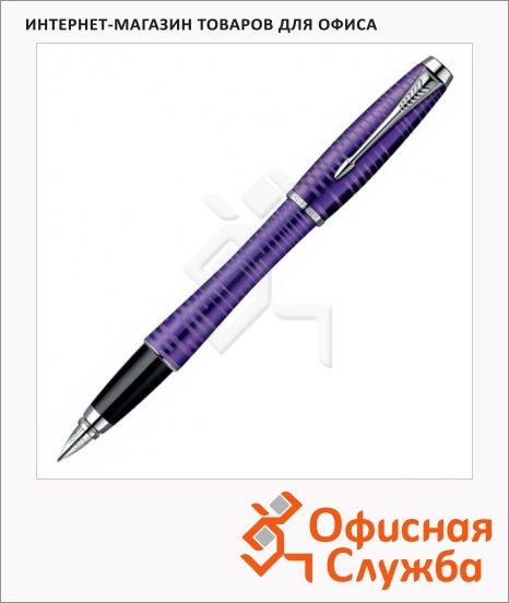 Ручка перьевая Parker Urban Premium Vacumatic F206 F, черная, аметист корпус