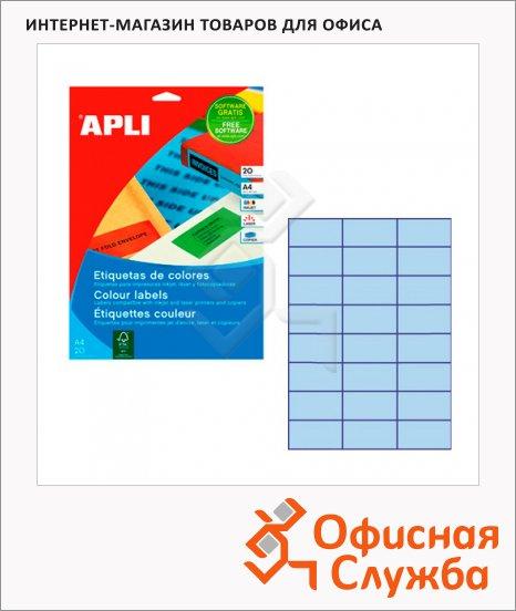 фото: Этикетки цветные Apli 1591 70x37мм, 480шт, голубые