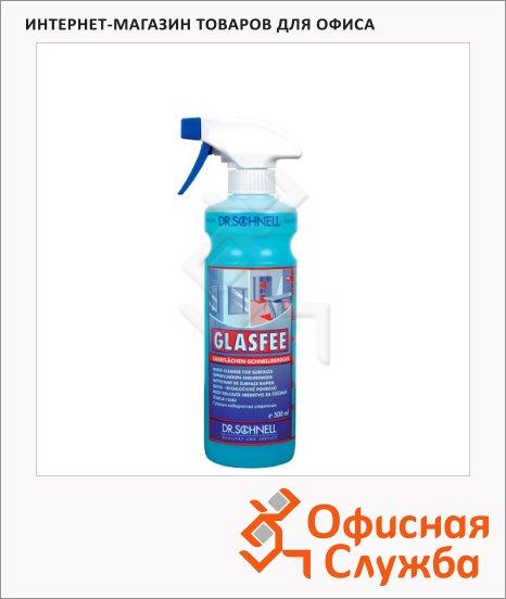 Чистящее средство Dr.Schnell Glasfee 500мл, для стекол и зеркал, с распылителем, 30143, 143397