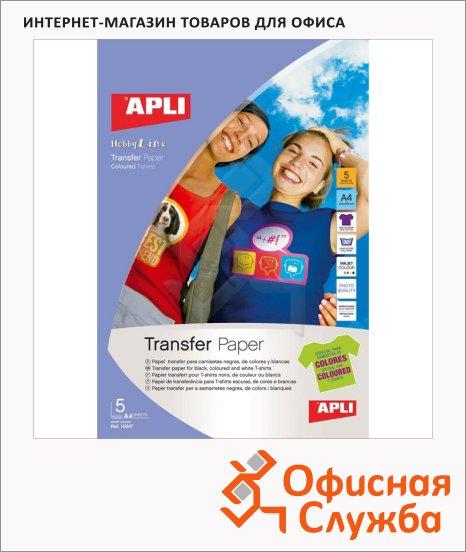 фото: Бумага самоклеящаяся Apli для термопереноса 10247 210х297мм, 5 листов, для темных и белых и цветных тканей