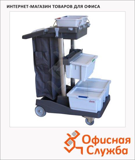 Комплексная тележка Vileda Pro ВолеоПро СВЕП, 3 контейнера для мопов, 145150