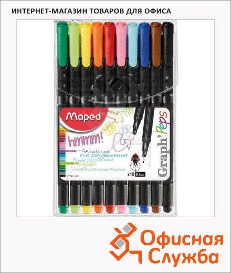 Ручка капиллярная Maped Graph Pep's 10шт, 0.4мм, 749150