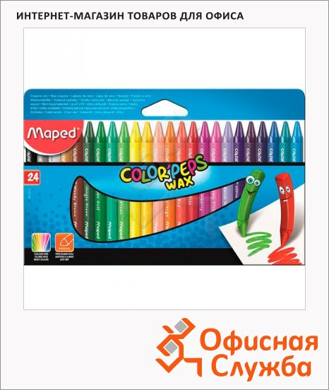 ����� �������� ���������� Maped Color'peps Wax 24 �����, �����������